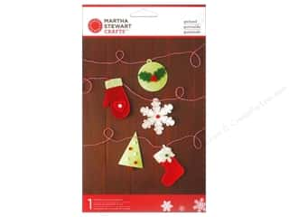 Felt Home Decor: Martha Stewart Decorative Garland Cottage Christmas Icon