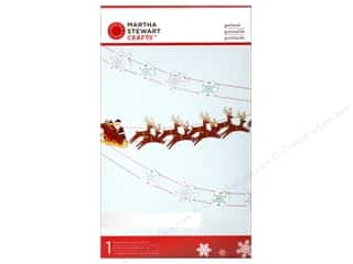 winter clearance craft: Martha Stewart Decorative Garland Wonderland Sleighs