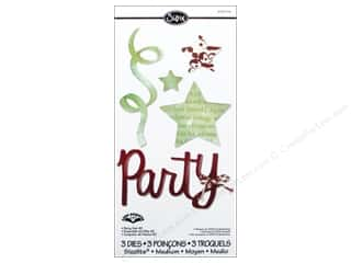 Party & Celebrations $3 - $4: Sizzix Sizzlits Die Set 3pc. Party #2 by Karen Burniston