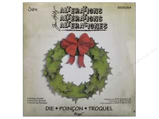 Tim Holtz Sizzix Die: Sizzix Bigz Die Holiday Wreath by Tim Holtz