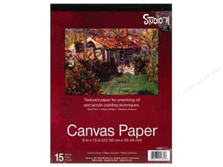 Darice Art Accessories Studio 71 Canvas Paper 9 x 12 in. 15 Sheet