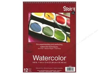 Darice Art Accessories Studio 71 Watercolor Pad 9 x 12 in. Spiral 12 Sheet