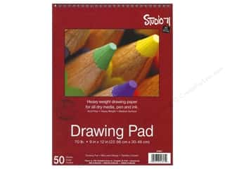 Darice Art Accessories Studio 71 Drawing Pad 9 x 12 in. Spiral 50 sheet