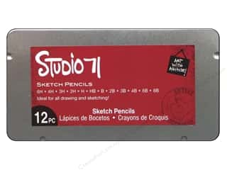 Computer Accessories Art, School & Office: Darice Art Accessories Studio 71 Sketch Pencil Set 12pc