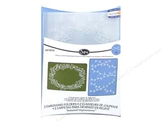 "Embossing Aids 6"": Sizzix TI Embossing Folders 2PK Christmas Lights & Holly by Jen Long"