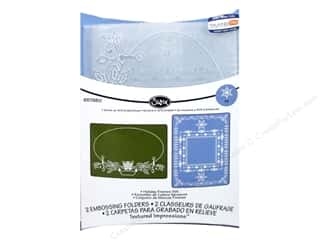 Tools Winter Wonderland: Sizzix TI Embossing Folders 2PK Holiday Frames by Jen Long