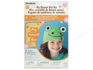 crochet button: Simplicity My Animal Hat Kit Frog