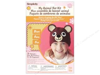 Teddy Bears Crafting Kits: Simplicity My Animal Hat Kit Bear