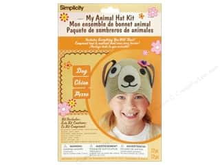 Hats Clearance Crafts: Simplicity My Animal Hat Kit Dog