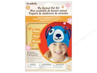 Weekly Specials Echo Park Collection Kit: Simplicity My Animal Hat Kit Puppy