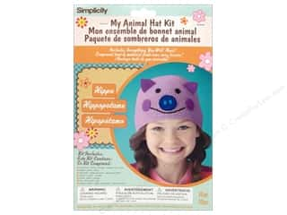 crochet button: Simplicity My Animal Hat Kit Hippo
