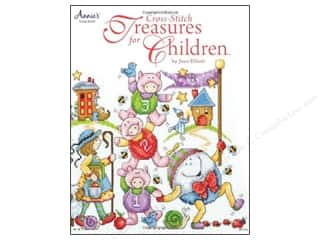 Pres-on Stitchery, Embroidery, Cross Stitch & Needlepoint: Annie's Cross-Stitch Treasures For Children Book by Joan Elliott