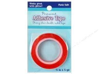 "Glue and Adhesives Yards: Sulyn Tape Double Side Permanent Red Liner .5"" 5yd"