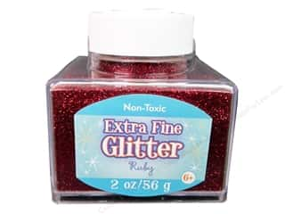 Sulyn Glitter 2oz Stack Jar Extra Fine Ruby