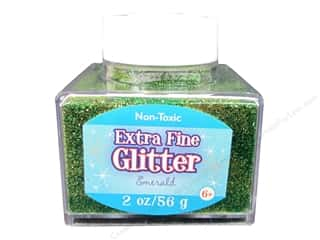 Sulyn Glitter 2oz Stack Jar Extra Fine Emerald