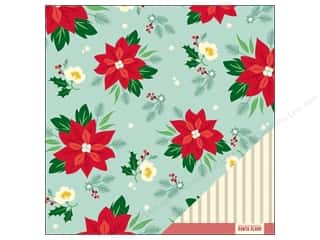 American Crafts Paper 12x12 Kringle&amp;Co Poinsettia (25 piece)