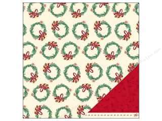 American Crafts Paper 12x12 Kringle&amp;Co Wreath (25 piece)