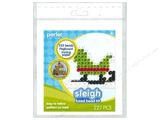 Beads Beading & Beadwork: Perler Fused Bead Trial Kit Sleigh