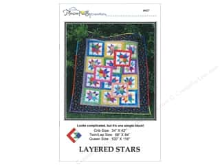 Sew Many Creations Fat Quarters Patterns: Pleasant Valley Creations Layered Stars Pattern