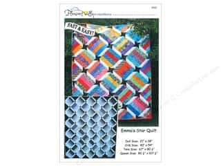 Quilt Woman.com Fat Quarter / Jelly Roll / Charm / Cake Patterns: Pleasant Valley Creations Emma's Star Quilt Pattern