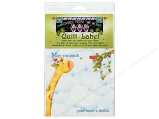 "Labels: Jody Houghton Quilt Label 6""x 6"" Giraffe"