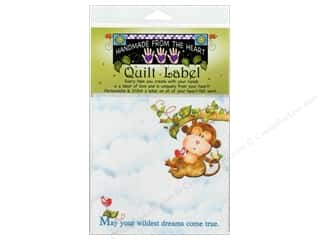 "Sewing & Quilting $6 - $10: Jody Houghton Quilt Label 6""x 6"" Monkey"