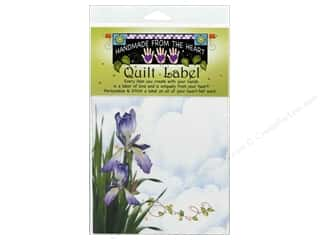 "Labels Jody Houghton Quilt Label: Jody Houghton Quilt Label 6""x 6"" Iris"