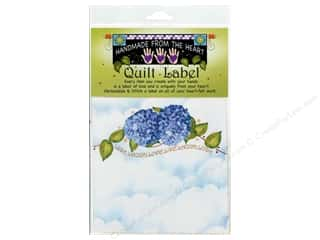 "Just For Laughs: Jody Houghton Quilt Label 6""x 6"" Hydrangea"