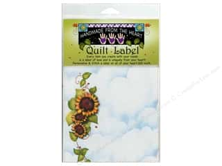 "Jody Houghton: Jody Houghton Quilt Label 6""x 6"" Sunflower"