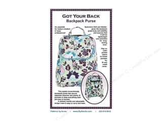 Legacy Patterns Purses, Totes & Organizers Patterns: By Annie Got Your Back Backpack Purse Pattern