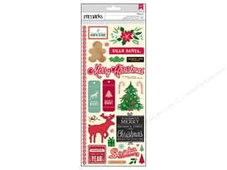 clearance American Crafts Thickers Stickers: American Crafts Stickers Kringle & Co Hollymint