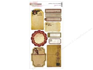 Scrapbooking Designer Papers & Cardstock: Glitz Design Sticker Cardstock Joyeux Noel Journal