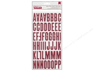 Thickers Alphabet Stickers On Trend Shoebox Glitter Pink