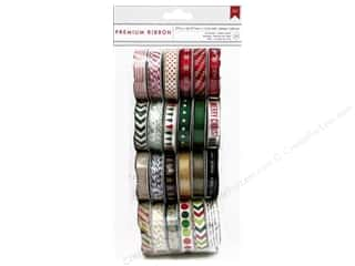 American Crafts Ribbon ValPck 24pc Kringle&amp;Co