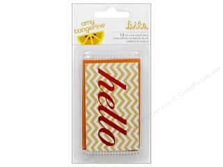American Crafts Embellishment Bits Amy Tangerine Ready Set Go Vellum Envelopes