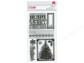 Scrapbooking & Paper Crafts  Stamps  Rubber Stamp: American Crafts Stamps Clear Kringle&Co Mistlebow
