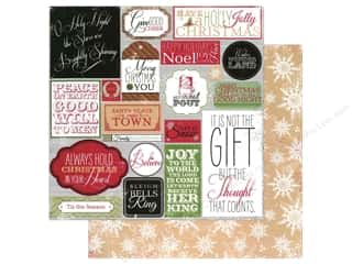 Winter Wonderland Printed Cardstock: Making Mem Paper 12x12 Believe Label/Snowflake (25 piece)