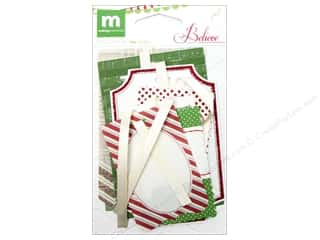 Sequins Making Memories Embellishments: Making Memories Tags Believe Mixed & Stitched