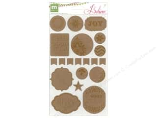 Making Memories Christmas: Making Memories Stickers Believe Chipboard Alterable
