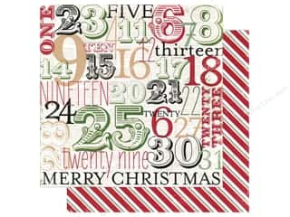 "Making Memories Paper 12""x 12"" Believe Advent/Candy Cane Stripe"