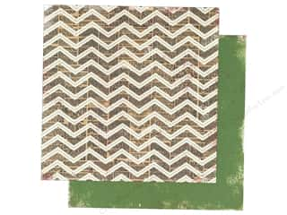 Making Mem Paper 12x12 Believe Chevron/Green Dot (25 piece)