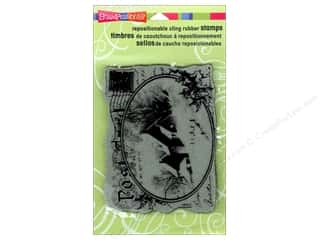 Holiday Sale Stampendous Cling Rubber Stamp: Stampendous Cling Rubber Stamp Snowy Postcard