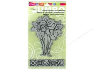 Stampendous Cling Rubber Stamp Jumbo Amaryllis