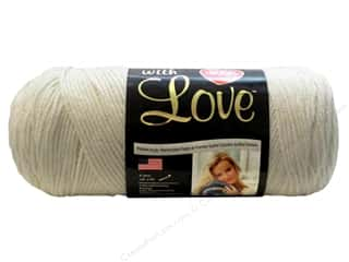 Red Heart With Love Yarn Eggshell 7oz.
