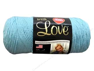 Yarn Red Heart With Love Yarn: Red Heart With Love Yarn #1502 Iced Aqua 7oz.