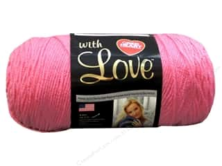 "Darice Plastic Canvas #7 10.5""x 13.5"" : Red Heart With Love Yarn #1704 Bubblegum 7oz."