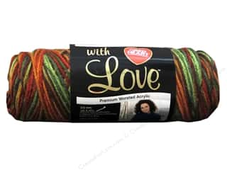 Blend Yarn & Needlework: Red Heart With Love Yarn #1934 Autumn 5oz.