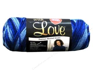 Yarn & Needlework Blue: Red Heart With Love Yarn #1937 Deep Blues 5oz.