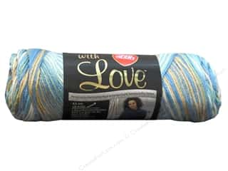 Yarn, Knitting, Crochet & Plastic Canvas: Red Heart With Love Yarn #1938 Beachy 5oz.