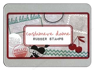 Glitz Design Rubber Stamp Set Cashmere Dame